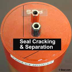 Radial Appliance Design Flaw, Seal Cracking  & Separation